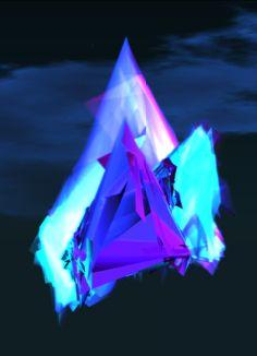 neon lights crystals