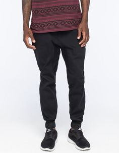 Lira Weekend Mens Jogger Pants Black  In Sizes