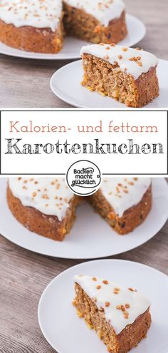 Gesunder Karottenkuchen The perfect healthy carrot cake. There is hardly any sugar or fat in this juicy carrot cake. So the ideal carrot cake for a healthy Easter. Kid Desserts, Healthy Dessert Recipes, Baby Food Recipes, Appetizer Recipes, Cake Recipes, Budget Recipes, Soap Recipes, Brownie Recipes, Quick Recipes