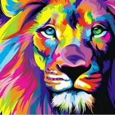leon dibujo pintura