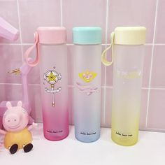 Must have water bottles for back to school! Drinking Water Bottle, Cute Water Bottles, Drink Bottles, Girly Things, Cool Things To Buy, Heart With Wings, Kawaii Accessories, Cute Cups, Cardcaptor Sakura