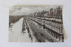 French antique postcard Paris black & white 1930s street Rivoli unused, free postage!