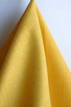 Solid Yellow Home Decor Weight Fabric from by SewFineFabric, $12.50