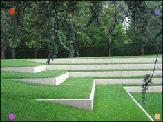 garten am hang This is our daily lawn mowing Landscape Stairs, Urban Landscape, Landscape Architecture, Landscape Design, Landscape Bricks, Terraced Landscaping, Modern Landscaping, Front Yard Landscaping, Landscaping Borders