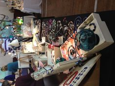 My craft fair table for my jewellery..