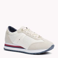Tommy Hilfiger Suede Mix Sneakers - whisper white (White) - Tommy Hilfiger Sneakers - main image