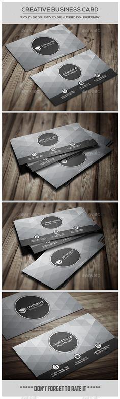 Creative Business Card - Creative Business Cards Download here : http://graphicriver.net/item/creative-business-card/12263112?s_rank=1686&ref=Al-fatih