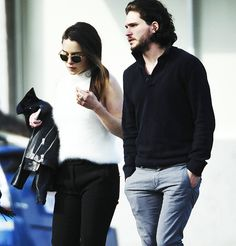 Emilia Clarke and Kit Harington out and about in Los Angeles, Feb. 9, 2014