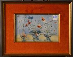 HIBEL - Framed & Mounted Floral Print.