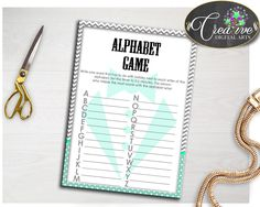 Chevron Gentleman Shower Grey Theme Words Game Letters Game ALPHABET GAME, Party Décor, Paper Supplies, Digital Download - lm001 #babyshowerparty #babyshowerinvites