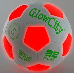 Light Up LED Soccer Ball  Uses 2 HiBright LED Lights Size 5 * More info could be found at the image url. Note:It is Affiliate Link to Amazon.