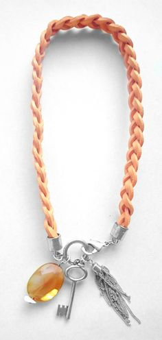 Trendy Necklace Pendant With Agate And Rope [NEW] | FASHION JEWELRY | BORGMAN FASHION