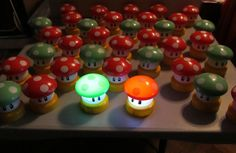 Super Mario Brothers RED Power up Mushroom SMALL Touch Lamp Night Light