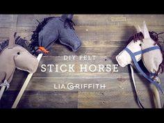 Felt Hobby Horse Video Tutorial - Lia Griffith