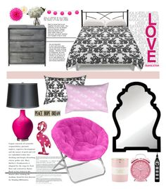 """""""metal vs pink"""" by by-jwp ❤ liked on Polyvore featuring interior, interiors, interior design, home, home decor, interior decorating, Cooper Classics, Refresh, Nearly Natural and Kate Spade"""