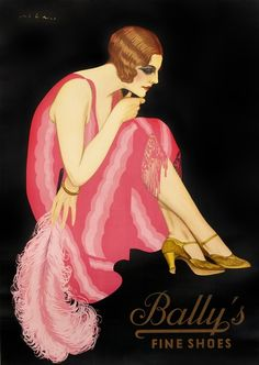 Art Deco ad for Bally shoes