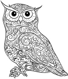 printable owl coloring page | coloring pages owl (birds > owl ... - Free Printable Owl Coloring Pages