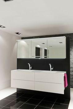 keuco royal reflex waschtischunterbau front: glas trüffel / korpus ... - Badtisch Doppelwaschbecken