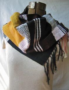 pidgepidge on Etsy Multicolor hand-woven Cecelia scarf