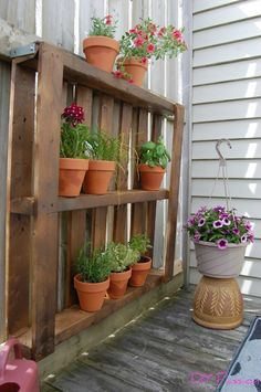 My One-Hour, $15 Balcony Pallet Garden Courtesy of Habitat ReStore | DIY Passion