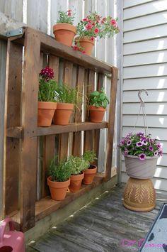 My One-Hour, $15 Balcony Pallet Garden Courtesy of Habitat ReStore   DIY Passion