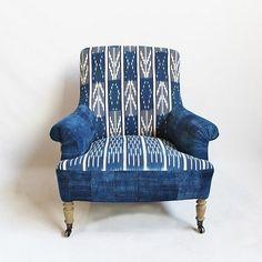 indigo African fabric