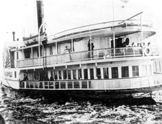 "- Paddle steamer ""City of Jacksonville"" sailing on the Indian River - Walton County, Florida.    191-"