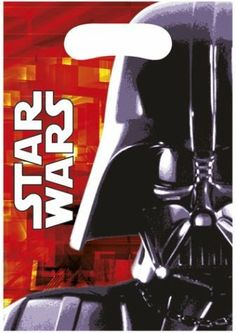 Star Wars Party Bags - Loot Bags - Star Wars Party Supplies (Pack of Pack contains: 6 plastic party bags Darth Vader, Star Wars Darth, Star Wars Clone Wars, Star Wars Balloons, Cadeau Star Wars, Star Wars Party Supplies, Airwalker Balloons, Pochette Surprise, Star Wars Party