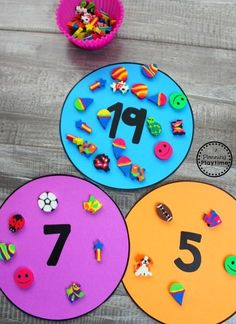 Learning with Mini Erasers – Planning Playtime Lernen mit Mini-Radiergummis – Planen … Numbers Preschool, Learning Numbers, Math Numbers, Preschool Classroom, Numbers Kindergarten, Decomposing Numbers, Kindergarten Centers, Math Centers, Kindergarten Counting