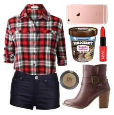 """""""Oops ... guess i like bad boys"""" by zzeelleestyles ❤ liked on Polyvore featuring LE3NO, Charlotte Russe and Topshop"""