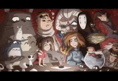 Ghibli mashup- It kind of looks like they're plotting world domination (i would be so cool with that)