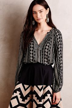 Arika Peasant Blouse #anthropologie
