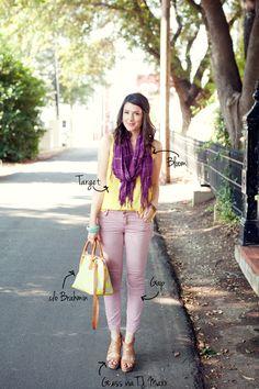 5.12 tgif (Target top + Bloom scarf + GAP pants + Guess wedges + Brahmin bag)