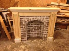 If You're Going to Make It, You Better Fake It--DIY Fake Brick Fireplace - donnamorton. - - If You're Going to Make It, You Better Fake It–DIY Fake Brick Fireplace – donnamorton. Faux Foyer, Faux Mantle, Faux Fireplace Mantels, Brick Fireplace Makeover, Farmhouse Fireplace, Fireplace Surrounds, Fireplace Design, Fireplace Brick, Fireplace Ideas