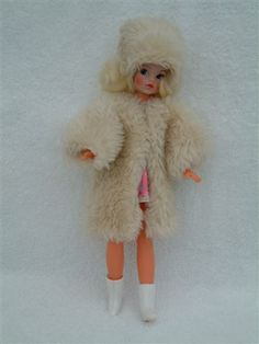Gorgeous fluffy coat and matching hat for Sindy Childhood Toys, Childhood Memories, Sindy Doll, Dolls, Mod Suits, Fluffy Coat, Trendy Girl, White Kittens, Elastic Headbands