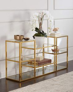 Shop Magnus Multi-Level Console Table and Matching Items from Regina Andrew Design at Horchow, where you'll find new lower shipping on hundreds of home furnishings and gifts. Design Living Room, Living Room Decor, Dining Room, Diy Ikea Hacks, Home Furniture, Furniture Design, Furniture Making, Asian Furniture, French Furniture