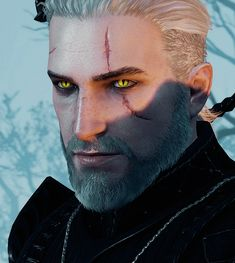 """sexualsportswear: """" """"🐱🐱🐱🐱🐱🐱🐱🐱🐱🐱🐱🐱🐱🐱 """" mods used: young geralt original scars, real witcher eyes, & non-hairworked hair only """" The Witcher Wild Hunt, The Witcher Game, The Witcher Books, Witcher Art, Wolf Warriors, Httyd Dragons, Deep Art, White Wolf, Medieval Fantasy"""