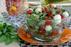 Receita de Salada de Tomate com Manjericão