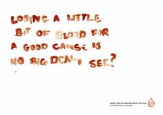 South African National Blood Service | Ads of the World™
