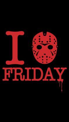 I Love Friday Tshirt Print Design by Demonigote Halloween Horror, Halloween Shirt, Fall Halloween, Halloween Vinyl, Kawaii Halloween, Horror Icons, Horror Films, Horror Artwork, Vinyl Shirts