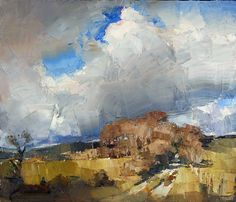 Snow Clouds, 34×40, oil on canvas, Oliver Akers Douglas