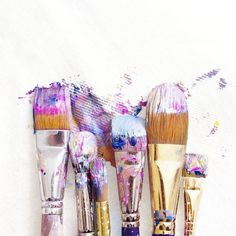 Messy brushes  (: @meandering_mari) #ABMlifeiscolorful