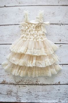 Flower Girl Dress - Lace Flower girl dress - Baby Lace Dress - Rustic - Country Flower Girl - Lace Dress - Ivory Lace dress -  Bridesmaid