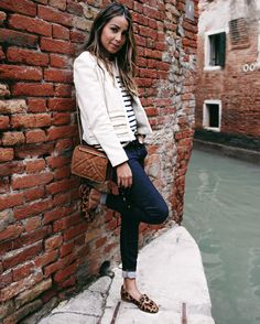 Exploring Venezia    wearing @sezane Jacket  and  @morganesezalory  shoesFashion Look by   sincerelyjules