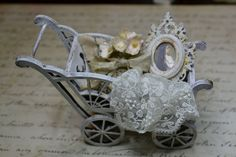 Miniature shabby chic pram by dementeamano on Etsy