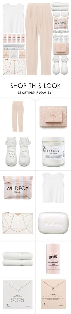 """""""pale and pink..."""" by cinnamon-and-cocoa ❤ liked on Polyvore featuring Luna, Miu Miu, Givenchy, Herbivore, Wildfox, Monki, 10 Bells, Sisley Paris, Linum Home Textiles and philosophy"""