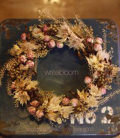 드라이플라워 리스,wreath