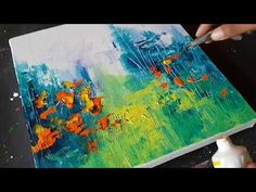 Abstract Painting / Landscape /Amazing Easy technique in Acrylics / Demo /Project 365 days/Day#025 - YouTube