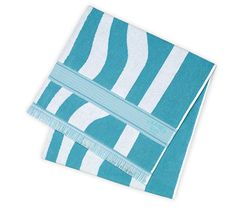 Two-tone beach towel in printed jacquard, 100 % cotton 95 x 140 cm