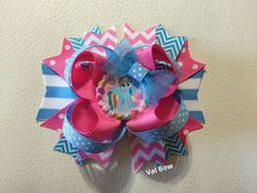 Handmade  My Little Pony Rainbow Dash Stacked Boutique Hair Bow for Toddler Girl #Handmade
